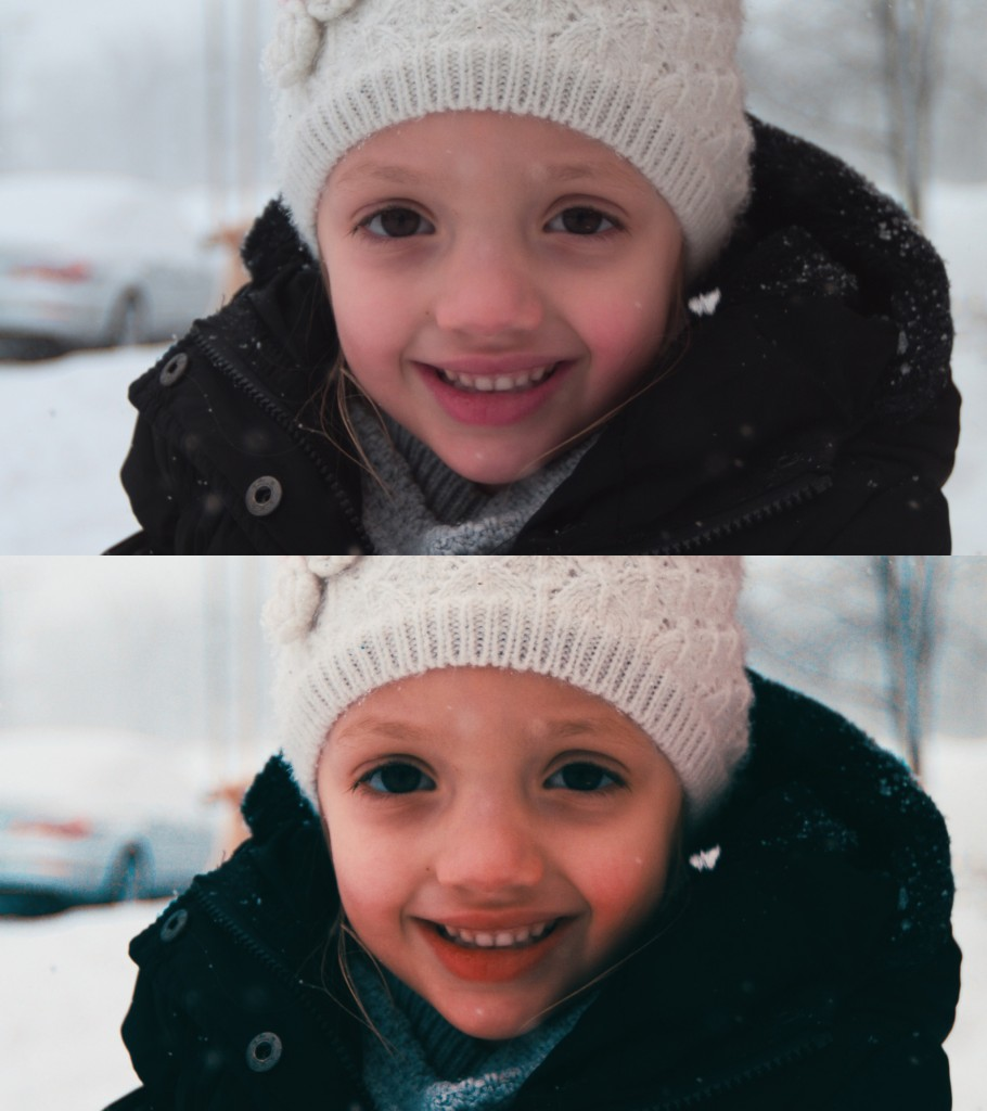 The ungraded, straight from camera image and the graded image below.